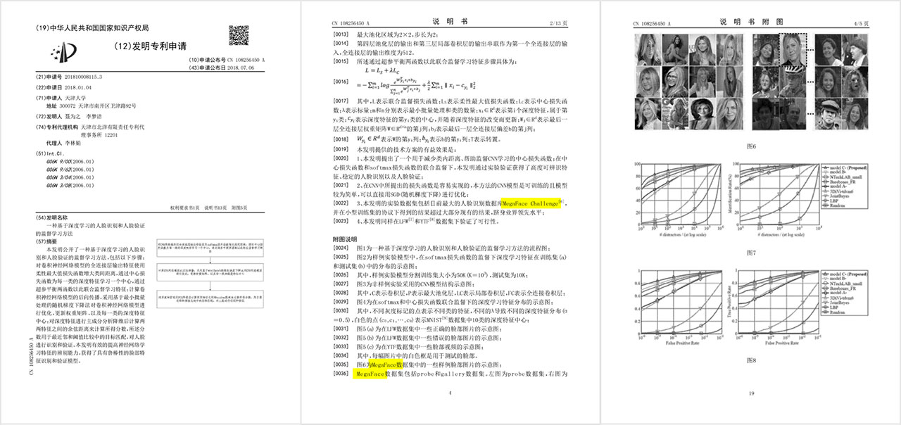 "[0035] FIG. 6 (text auto-translated) ""is a schematic MegaFace some sample data set in a face image"""